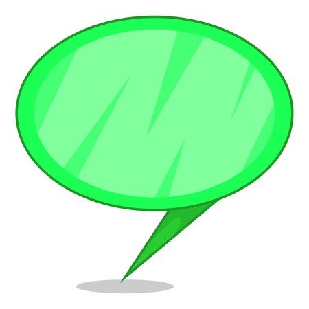 Green speech bubble icon. Cartoon illustration of green speech bubble vector icon for web