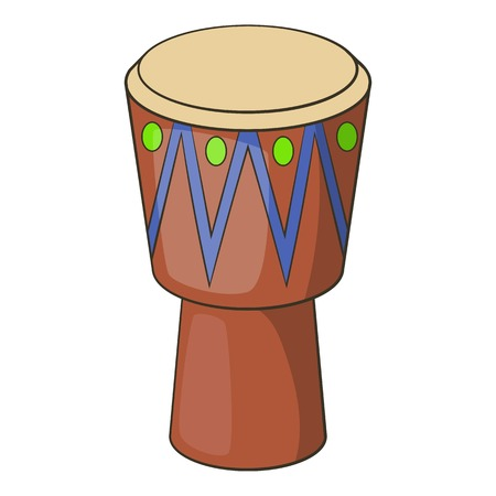 rhythm rhythmic: Ethnic drum icon. Cartoon illustration of ethnic drum vector icon for web Illustration