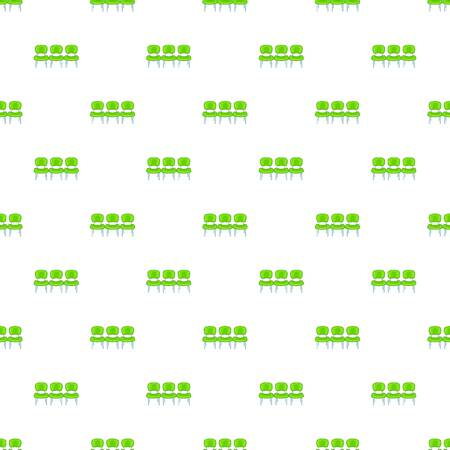 recline: Chairs at airport pattern. Cartoon illustration of chairs at airport vector pattern for web Illustration