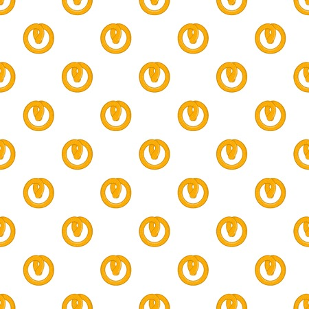 Pretzels pattern. Cartoon illustration of pretzels vector pattern for web