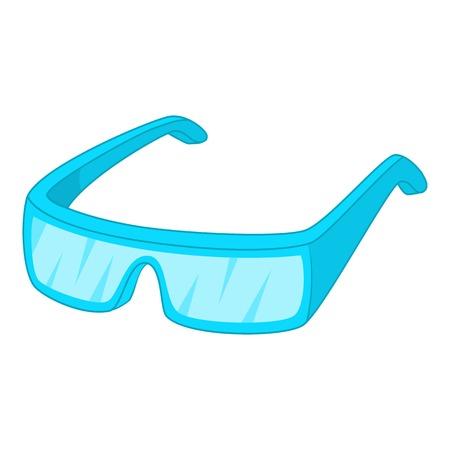 Protective glasses icon. Cartoon illustration of protective glassesvector icon for web design Illustration