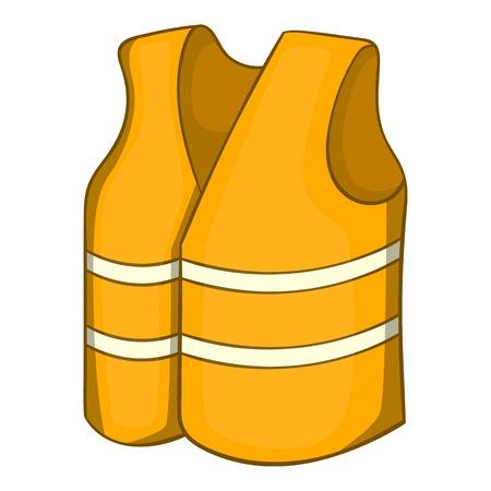 Reflective vest icon. Cartoon illustration of reflective vest vector icon for web design Illustration