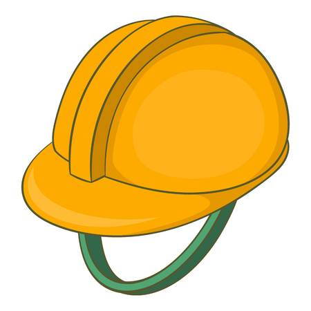 Construction helmet icon. Cartoon illustration of construction helmet vector icon for web design