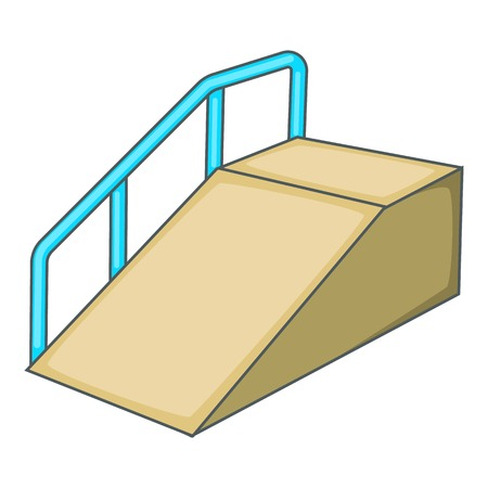 Ramp for the disabled icon. Cartoon illustration of ramp for the disabled vector icon for web design