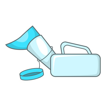 urinary catheter: Urinal pot for the disabled icon. Cartoon illustration of urinal pot for disabled vector icon for web design Illustration