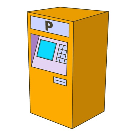 Parking fees icon. Cartoon illustration of parking fees vector icon for web design