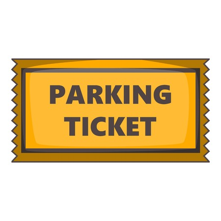 parking ticket: Parking ticket icon. Cartoon illustration of parking ticket vector icon for web design