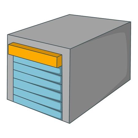 Gates to parking icon. Cartoon illustration of gates to parking vector icon for web design Illustration