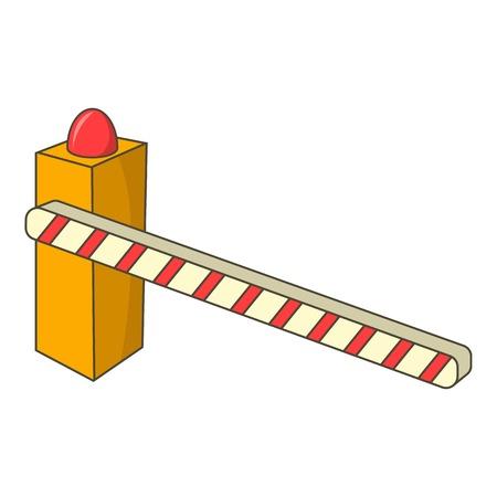 Parking barrier icon. Cartoon illustration of parking barrier vector icon for web design Illustration
