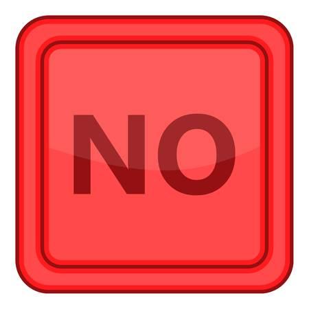 No red square label icon. Cartoon illustration of no red square label vector icon for web Illustration