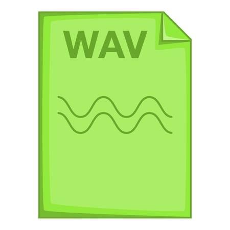 wav: WAV file icon. Cartoon illustration of WAV file vector icon for web Illustration