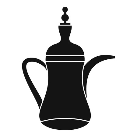 middle eastern food: Oriental teapot icon. Simple illustration of oriental teapot vector icon for web