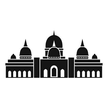 cupola: Sheikh Zayed Grand Mosque, UAE icon. Simple illustration of Sheikh Zayed Grand Mosque, UAE vector icon for web Illustration