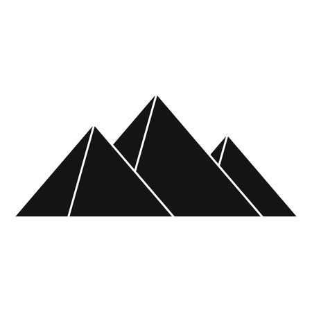 antiquities: Pyramids icon. Simple illustration of pyramids vector icon for web