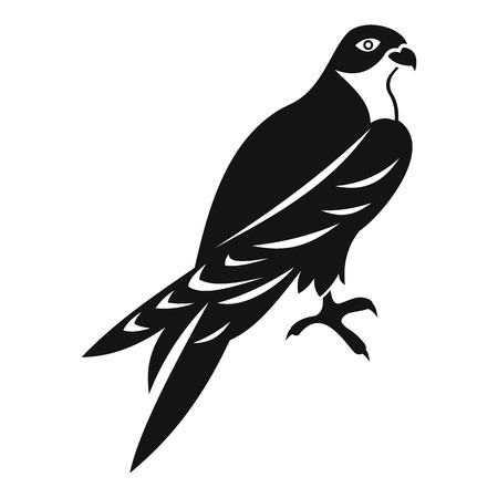 watchful: Falcon icon. Simple illustration of falcon vector icon for web