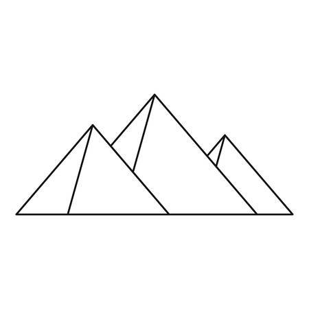 khafre: Great pyramids icon. Outline illustration of Geat pyramids vector icon for web Illustration