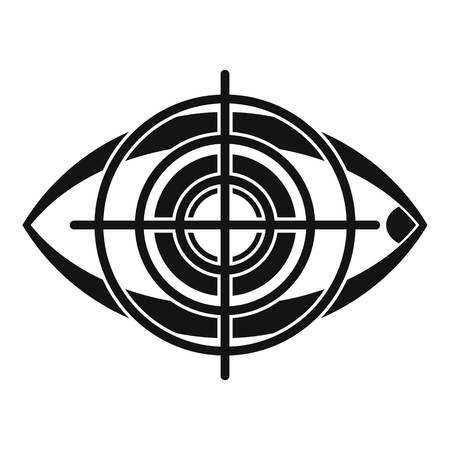 Eye and target icon. Simple illustration of eye and target vector icon for web