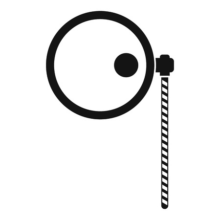 monocle: Monocle icon. Simple illustration of monocle vector icon for web