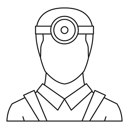 ophthalmologist: Ophthalmologist icon. Outline illustration of ophthalmologist vector icon for web