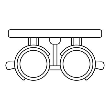Trial lense frames icon. Outline illustration of trial lense frames vector icon for web