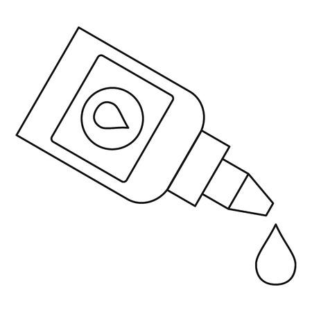 eye drops: Eye drops bottle icon. Outline illustration of eye drops bottle vector icon for web