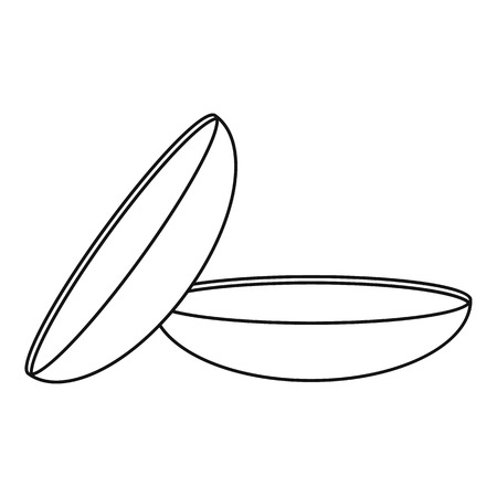 Two contact lenses icon. Outline illustration of two contact lenses vector icon for web