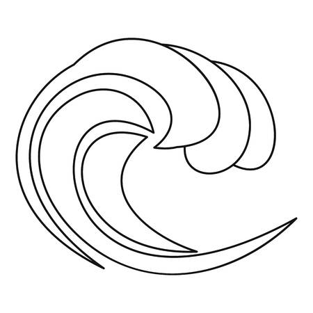 Water wave icon. Outline illustration of water wave vector icon for web 向量圖像