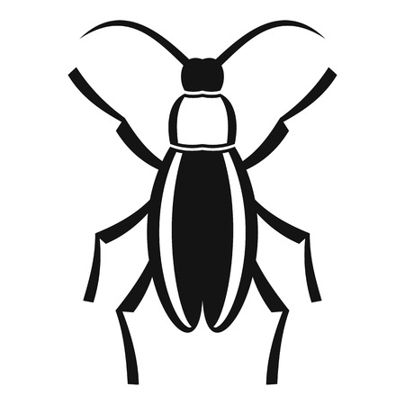 coleoptera: Beetle bug icon. Simple illustration of beetle bug vector icon for web