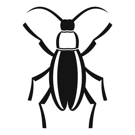 coleoptera: Beetle bug icon. Simple illustration of beetle bug vector icon for web