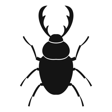 coleoptera: Stag beetle icon. Simple illustration of stag beetle vector icon for web