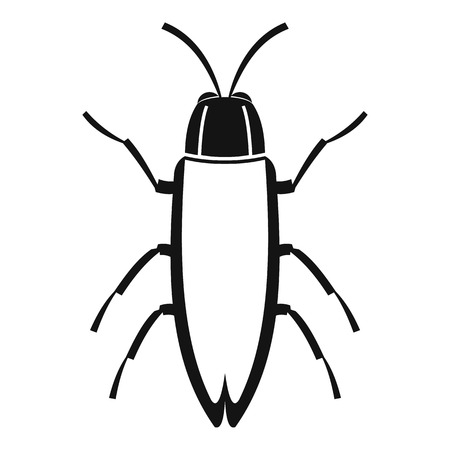 coleoptera: Cockroach icon. Simple illustration of cockroach vector icon for web Illustration