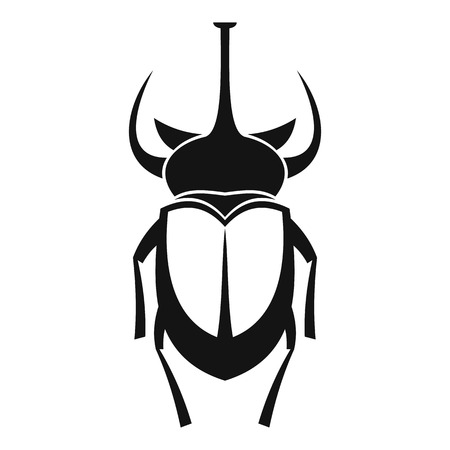coleoptera: Weevil beetle icon. Simple illustration of beetle vector icon for web