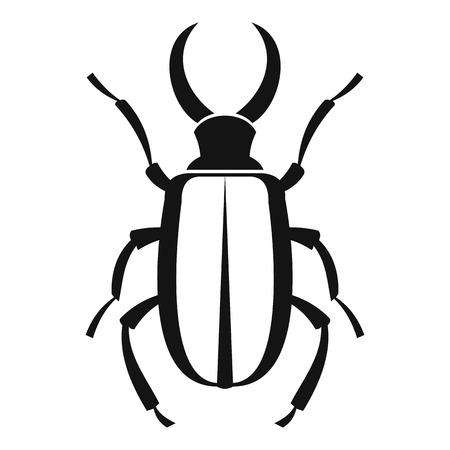 coleoptera: Lucanus cervus icon. Simple illustration of lucanus cervus vector icon for web