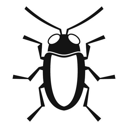 coleoptera: Longhorn beetle grammoptera icon. Simple illustration of longhorn beetle grammoptera vector icon for web Illustration