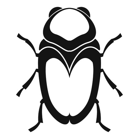 coleoptera: Scarab beetle icon. Simple illustration of scarab beetle vector icon for web