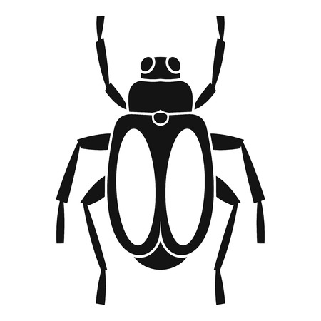 coleoptera: Dung beetle icon. Simple illustration of dung beetle vector icon for web Illustration