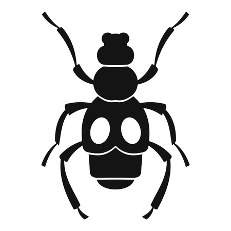 coleoptera: Beetle insect icon. Simple illustration of beetle insect vector icon for web Illustration