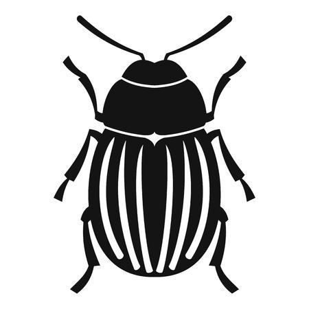 coleoptera: Colorado potato beetle icon. Simple illustration of colorado potato beetle vector icon for web Illustration