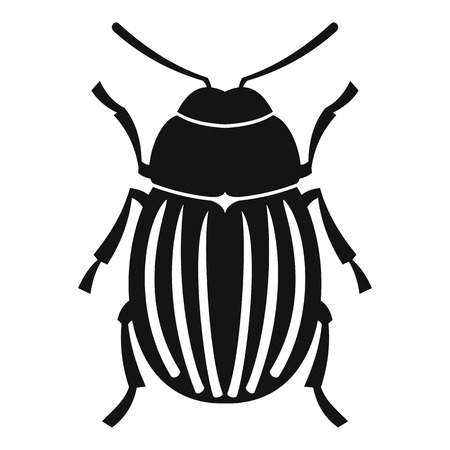 Colorado potato beetle icon. Simple illustration of colorado potato beetle vector icon for web Illustration