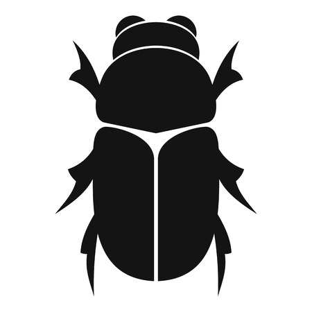 coleoptera: Chafer beetle icon. Simple illustration of chafer beetle vector icon for web Illustration