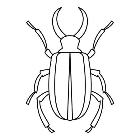 cervus: Lucanus cervus beetle icon. Outline illustration oflucanus cervus beetle vector icon for web Illustration