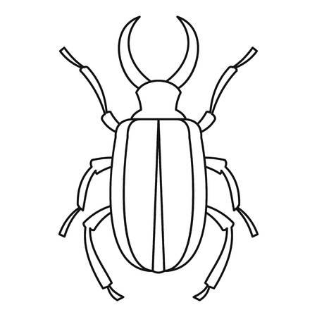 coleoptera: Lucanus cervus beetle icon. Outline illustration oflucanus cervus beetle vector icon for web Illustration