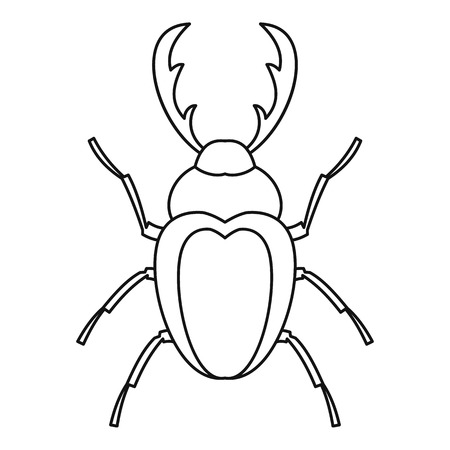 coleoptera: Stag beetle icon. Outline illustration of stag beetle vector icon for web