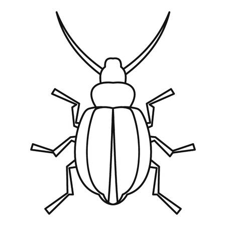 coleoptera: Beetle insect icon. Outline illustration of beetle insect vector icon for web Illustration