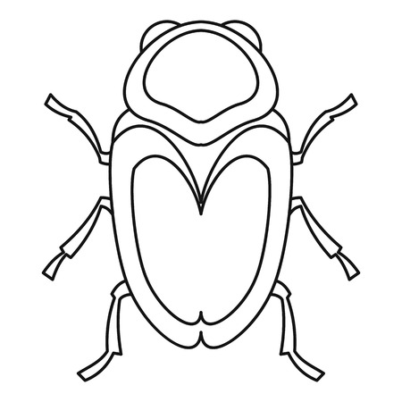 coleoptera: Scarab beetle icon. Outline illustration of scarab beetle vector icon for web