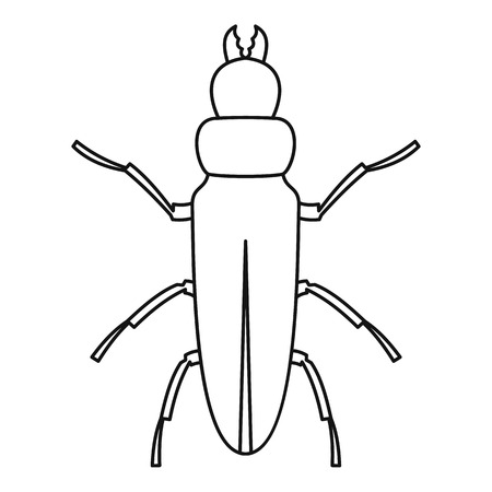 coleoptera: Beetle icon. Outline illustration of beetle vector icon for web Illustration