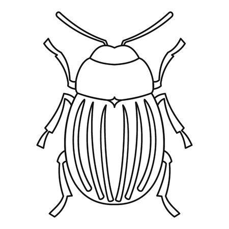 Colorado potato beetle icon. Outline illustration of colorado potato beetle vector icon for web
