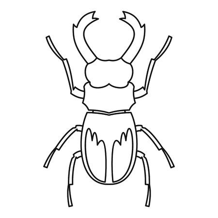 coleoptera: Rhinoceros beetle icon. Outline illustration of rhinoceros beetle vector icon for web