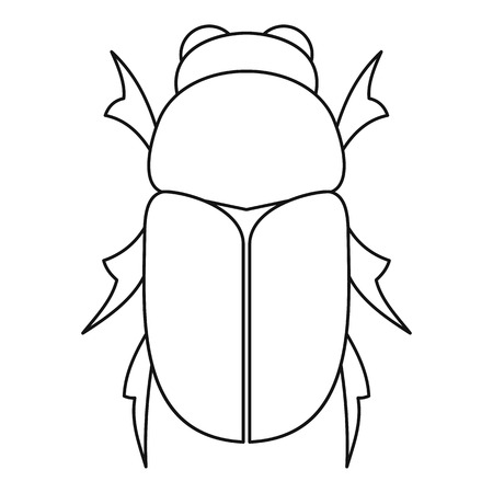 coleoptera: Chafer beetle icon. Outline illustration of chafer beetle vector icon for web Illustration