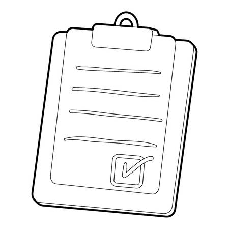 Plane tablet icon. Outline illustration of plane tablet vector icon for web